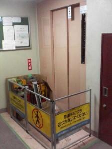 老朽化によるエレベータ改修工事